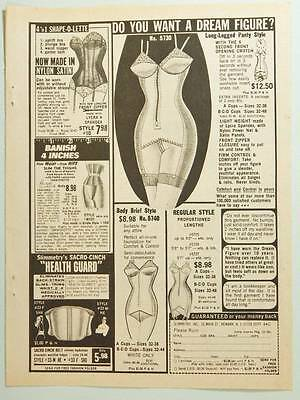 1977 Slimmetry Vintage Magazine Ad Page - Body Shaping Lingerie - Corset