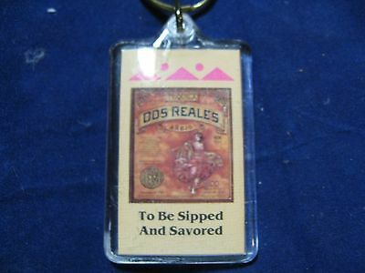 Dos Reales  Tequila  Key Chain Discontinued Brand SCARCE