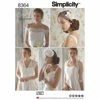 Simplicity SEWING PATTERN 8364 Wedding Accessories-Coverups,Fascinator,Hat