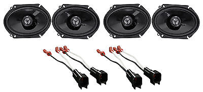 "2004-2006 Ford F-150 JVC 6x8"" Front+Rear Factory Speaker Replacement Kit"