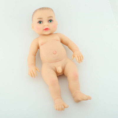 Full Body Reborn Baby BOY Green-Eyed Realistic Doll Silicone Cute Education Toy