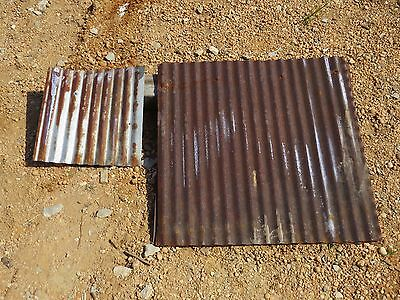 """22"""" x 22"""" CUSTOM CUTTING! 10 pc.RECLAIMED METAL. ROOFING CORRUGATED"""