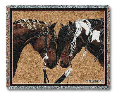 Throw Tapestry Afghan - Warriors Truce II 3887