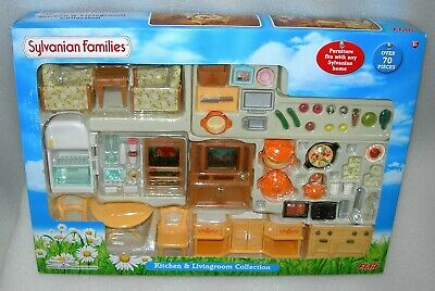 Sylvanian Families Kitchen and Living Room Furniture Collection Set - NIDB