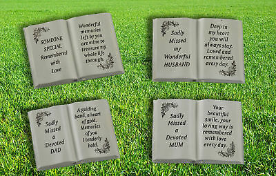 Memorial Graveside Plaque Pot Ornament Book Flowers Sadly Missed Someone Special