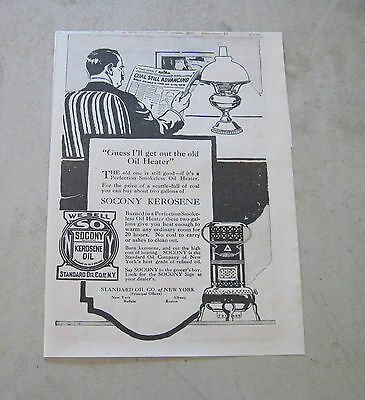 1917 Standard Oil Co. Of  N. Y. featuring Perfection oil Heater & Rayo Lamp ad