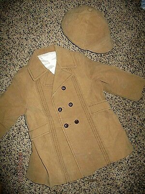 VINTAGE 70'S? Baby Boy LARGE (27-32 LBS)  Coat & Matching Hat  GUC