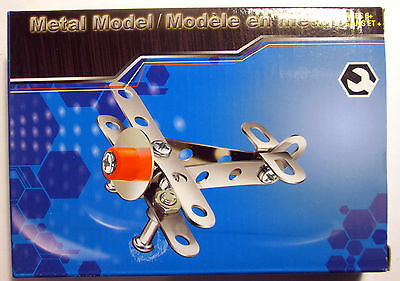 Metal Model Kits Stainless Bi-Plane ~ Mini Construction Set
