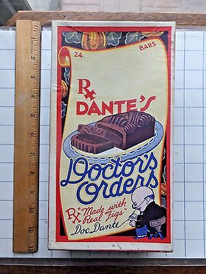 1930 Dante Candy Co. Doctor's Orders Candy Bar Store Display Box. RARE!!