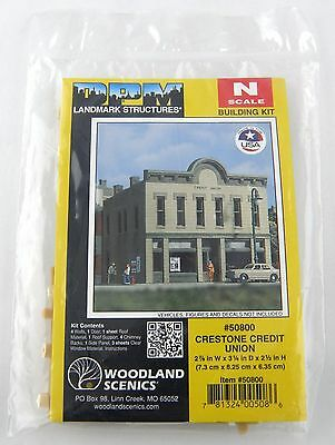 N Scale Crestone Credit Union Building Kit - Woodland Scenics DPM #50800