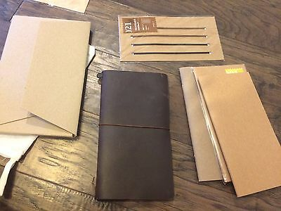 Midori Traveler's Notebook NEW with ACCESSORIES