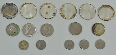 Collection of Canadian Coins 16 Total 1960 Some Silver here Must See
