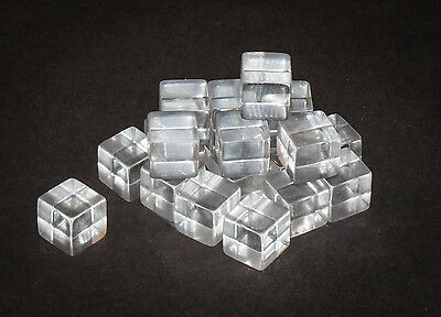 "(Pack of 20) Clear Acrylic Cube 1/2"" x 1/2"" 1/2"", Tumbled"