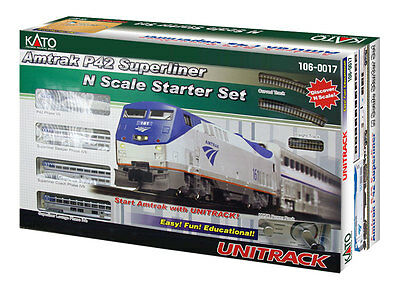 Kato 106-0017, N, Amtrak P42 Superliner Phase IVb Passenger Train Starter Set