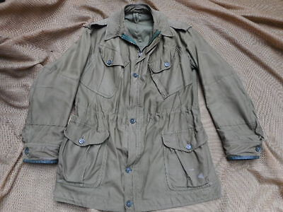 ORIGINAL ISSUE early 1960 OLD STYLE 60 PATTERN OG COMBAT JACKET SIZE 5 M RARE