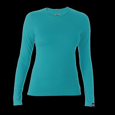 REDA Rewoolution Berry - Womens T-Shirt Long Sleeve 140, fjord, Merino wool
