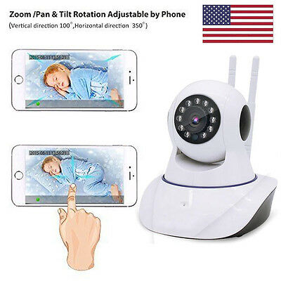 Wireless Camera Baby Monitor WiFi Video Record Remote Motion Audio Night Vision