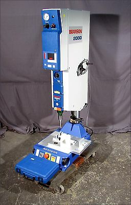 Excellent BRANSON 2000IW ULTRASONIC WELDER, Very Low Hours!