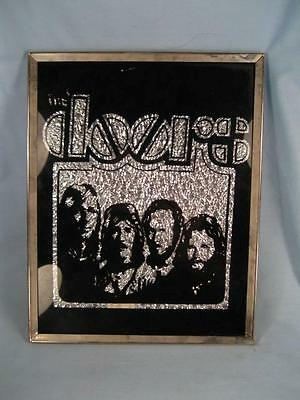The Doors Picture Textured Silver Metallic Carnival Prize Hangable Black (O)