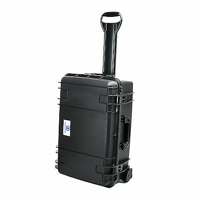 Seahorse SE920 Watertight Rolling Protective Equipment Case with Foam, Black