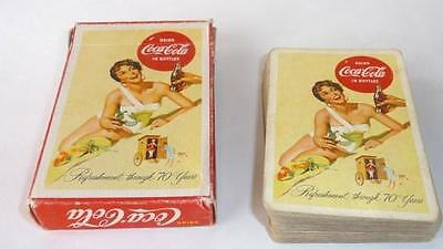 1956 Drink Coca Cola, Beach Girl Playing Cards, Box, No Jokers