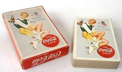 1956 Drink Coca Cola, Ice Skater Playing Cards. Nice Deck, 1 Jokers