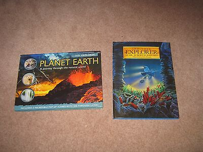 Lot of 2 Pop-up Non Fiction Picture Books Planet Earth & Explorer HC EXC