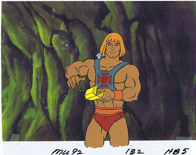 He-Man Masters of the Universe Original Animation Cel & Copy Bkgd #A18920