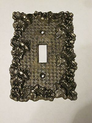 Vintage Floral Ornate Cast Metal Switch Plate Cover