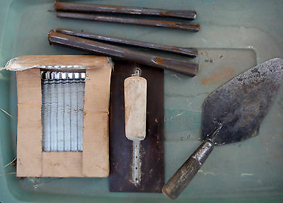 Vintage Lot Masonry Tools & Supplies for Brick or Block Asstortment