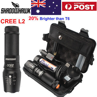 20000LM Police Tactical/Military Flashlight CREE XML XM-L2 LED 18650 Torch HOT