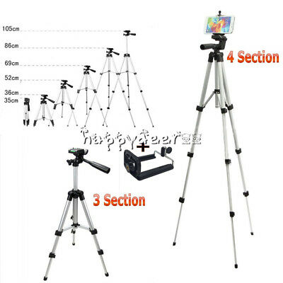 Professional Camera Tripod Stand Mount + Phone Holder for Cell Phone Camera