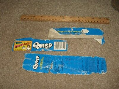cereal box QUISP 1970s vintage Quaker tops (3 items)
