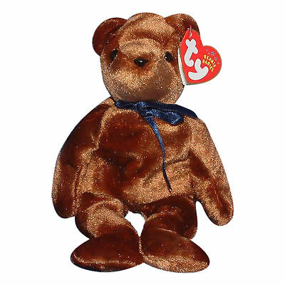 Ty Beanie Baby Ted-e - MWMT (Bear Brown Old Face 2004)