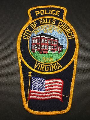 City Of Falls Church  Virginia  Police  Shoulder Patch    Old Used