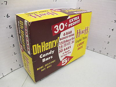 Williamson Candy bar company 1950s BOX TOP store display OH HENRY HEATH toffee