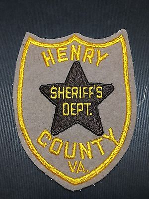 Henry County  Virginia Sheriff  Shoulder Patch    Used