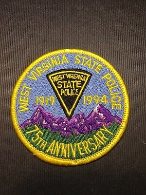 West Virginia State Police 75Th Anniversary  Shoulder Patch