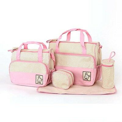 High-Quality 5 each / Set hand Bags Diaper Nappy Durable Bag Mummy Bag Mother