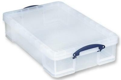 Multi-Use Clear Storage Box with Lid, 33 Litre - 165 x 440 x 710mm