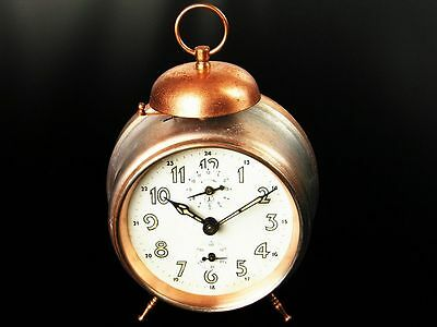 Very Old Alarm Desk Clock From Jeger Germany