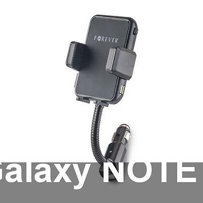 Support Voiture + 2 prises 2A pour SAMSUNG Galaxy NOTE 4