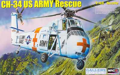 MRC Gallery Models Siborsky CH-34 US Army Rescue Hubschrauber 1:48 Bausatz 64103