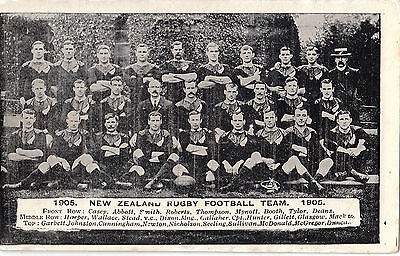 New Zealand Rugby Team 1906  All Named