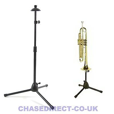 Foldable Trumpet / Trombone Stand With Tripod Legs Portable Adjustable Black