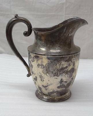 VINTAGE WALLACE STERLING SILVER WATER PITCHER JUG MONOGRAMMED 4 1/2 PTS 201 638g