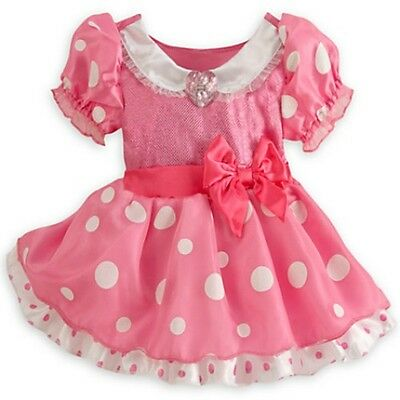 Disney Store Minnie Mouse Baby Girls Pink Fancy Dress Costume Age 6 - 12 Months