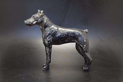 VTG Painted Metal DOBERMAN PINSCHER Dog