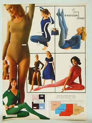 Sears Women's Exercise Wear Vintage 1978 Catalog Page / Ad - Tights & Leotards