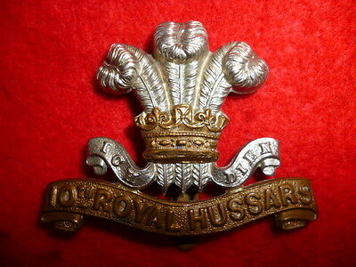 The 10th Hussars Older Cap Badge, KK 765, British Cavalry, Genuine